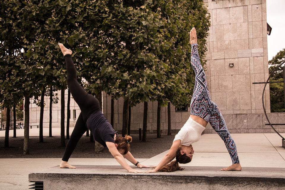 Yoga, Street, Sport, Woman, Workout, Fitness, Young