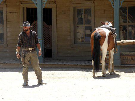 Oeste, Selvagem, Vaca, Cowboy, Oeste, Cavalo