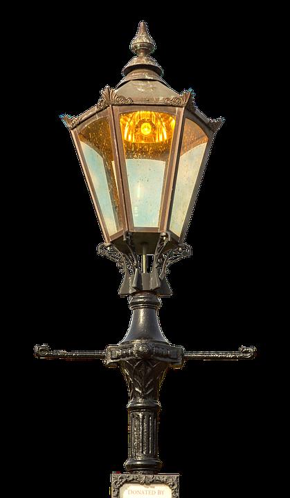 Street Lamp Old Antique Lighting Metal