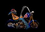 biker, bike, tattooed