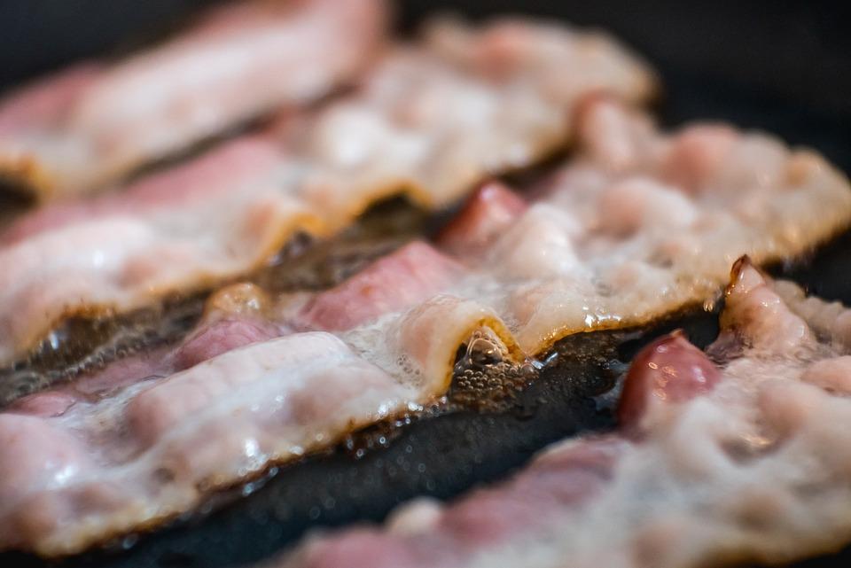 Frizzante, Caldo, Bacon, Pezzi, Cibo, Saporito