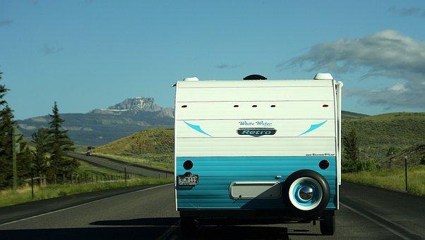 Usa, Camper, Classic, Caravan, Road Trip
