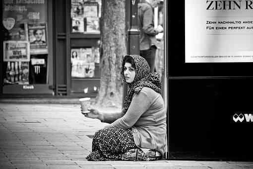 Menschen, Straße, Frau, Osteuropa, Roma