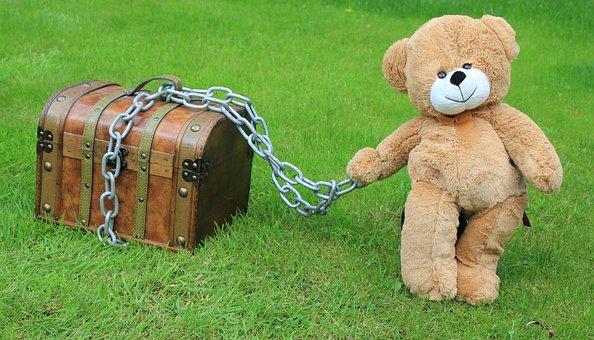 Trésor, En Sécurité, scellé avec une chaine