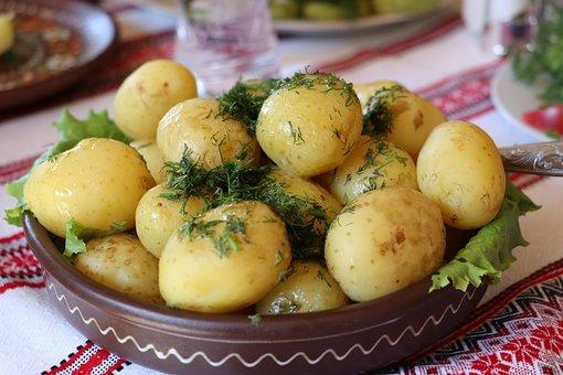 Ukraine, Kartoffeln, Dill, Gemüse
