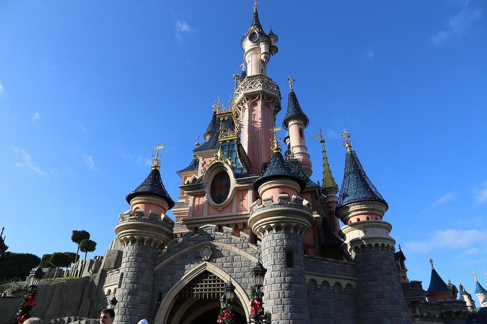 Disneyland, Castle, Paris, Sky, Tourism, Tourist