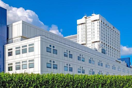 Building, Hospital, White, Modern
