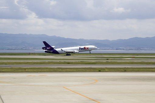 Fedex, Plano, Carga, Aire, Avión, Osaka