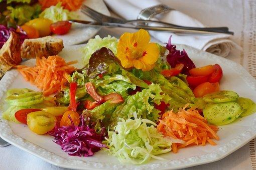 Salada, Prato De Salada, Placa, Talheres