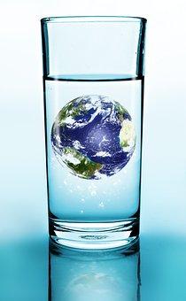 Glass, Drink, Water, Earth, Blue
