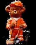 bear, profession, refuse collector
