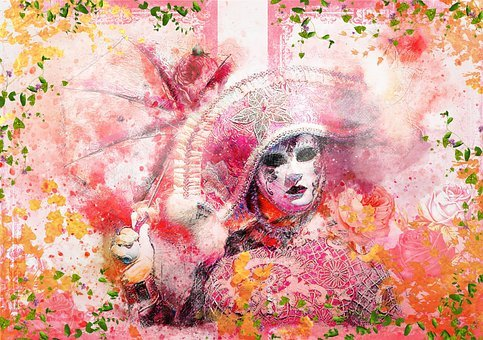 Carneval, Colorful, Rosa, Pink, Colors