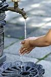 wash hands, water