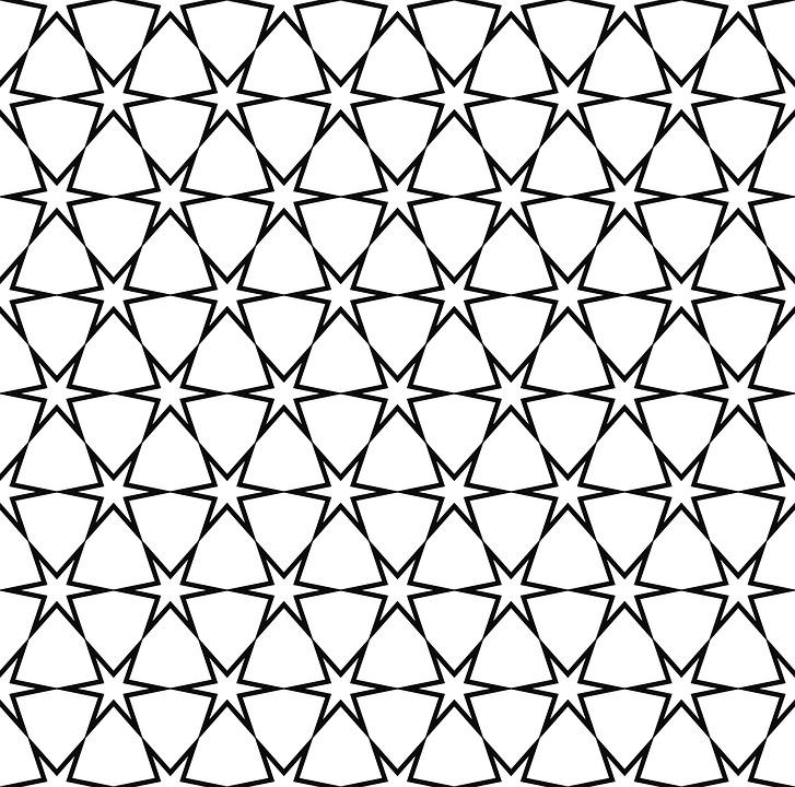 stern muster nahtlose modern schwarz und wei - Stern Muster