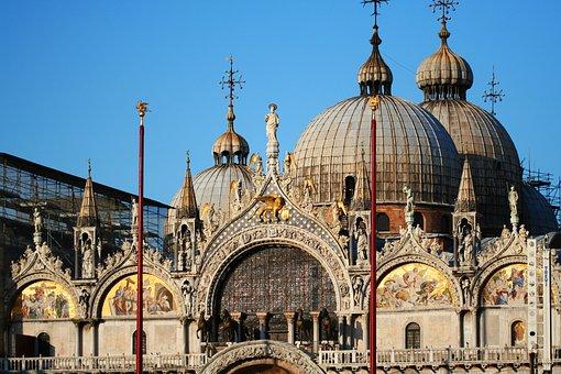 ヴェネツィア, イタリア, ドーム, サン ・ マルコ, 建物, アーキテクチャ