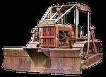 caterpillar, chains, bulldozer