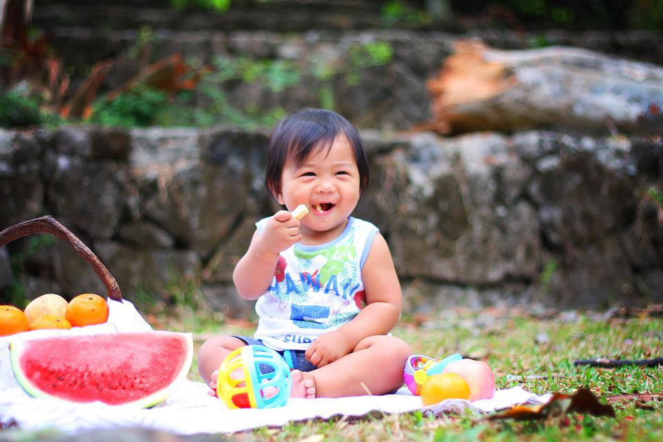 Picnic, Baby, Eating, Cute, Child, Food, Toddler, Happy
