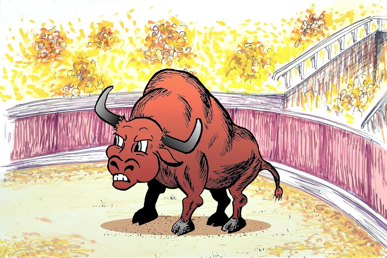 Рисованные картинки с быками