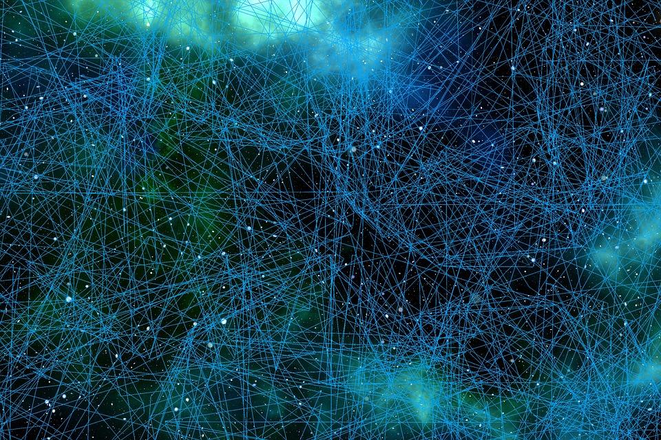 システム, ウェブ, 通信網, 繋がり, 接続済み, 互いに, 一緒, ニューロン, 脳細胞, ポイント