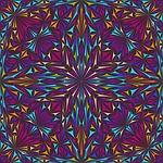 kaleidoscope, triangle, curved
