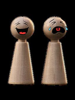 游戏人物, 表情符号, 哭, 笑, 滑稽, 玩具, 数字, 木, 播放, 团队图片