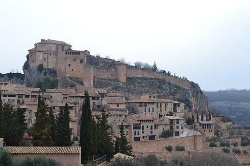 Vista panorámica de Alquézar, Huesca