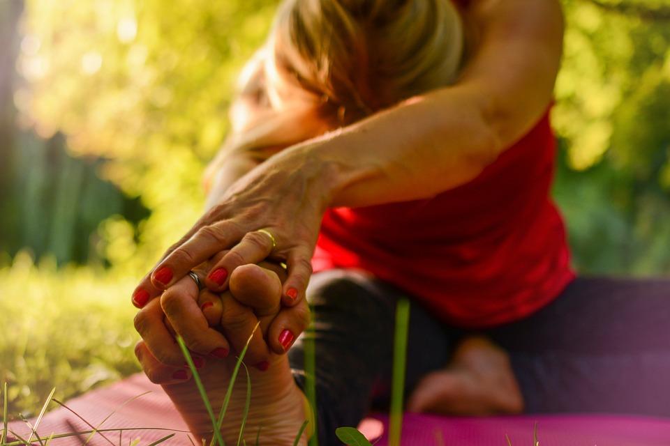 Yoga, Calma, Rilascio, Di Stretching, Ora D'Oro, Natura