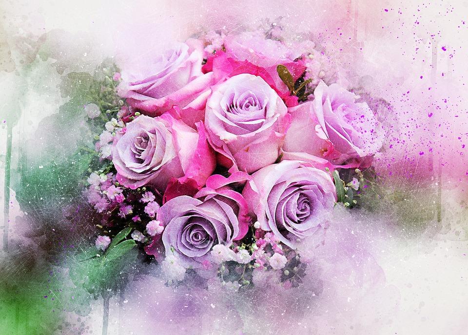 Bunga Mawar Karangan Gambar Gratis Di Pixabay