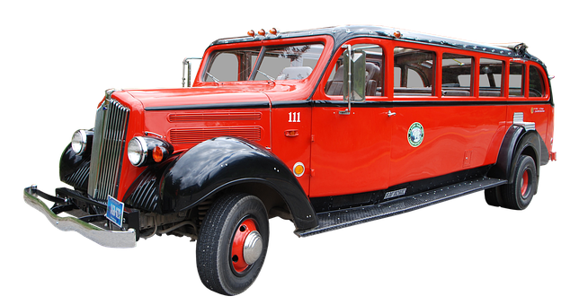 bus usa oldtimer vehicle old red