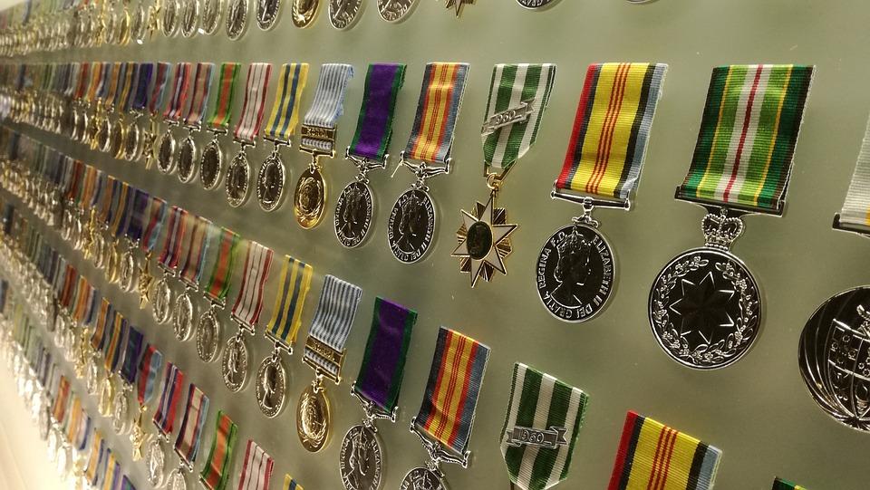 メダル, 軍事, 戦争, ヒーロー, 勇気, リボン, アイコンを, 装飾, 軍, 賞を受賞, シンボル