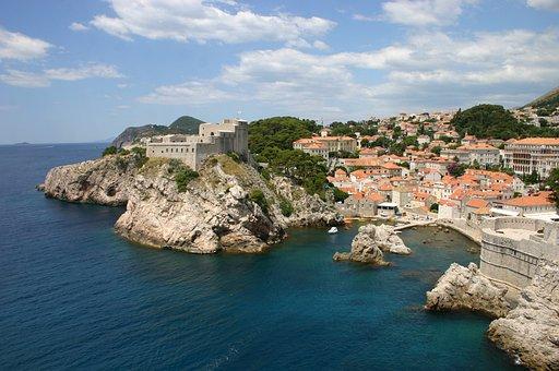 Croazia, Dubrovnik, Costa, Vecchio, Mare