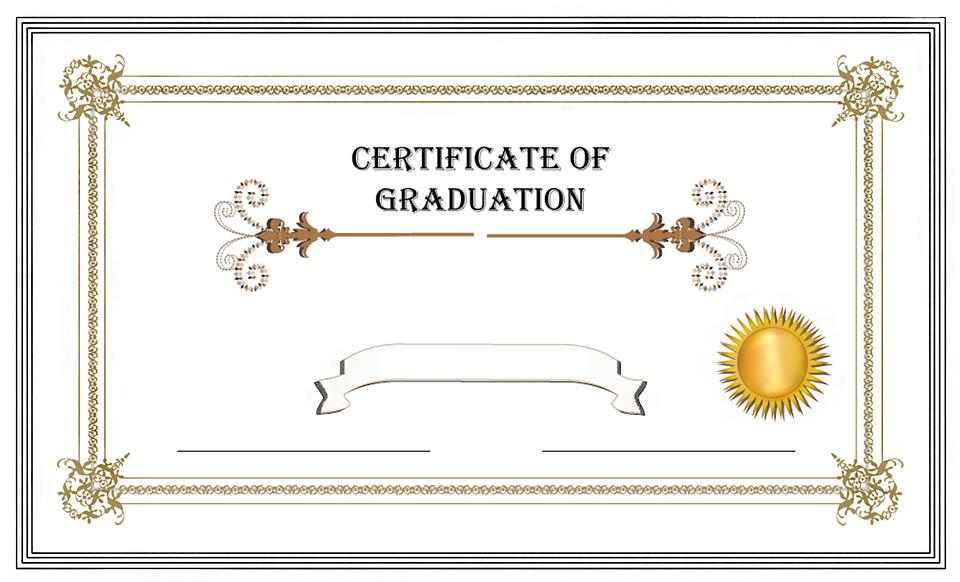 Free Illustration Graduation Certificate Diploma Free