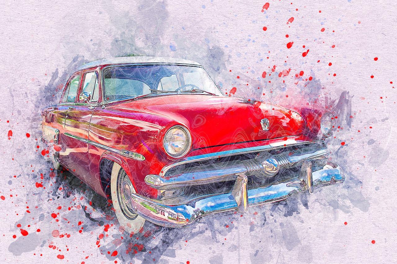 Картинки машин красками