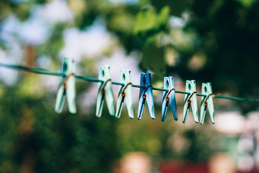 Pegs, Clothe Pegs, Drying, Clothesline
