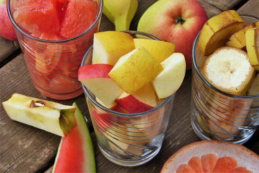 Fruit, Fruits, Fruit Salad, Apple, Cut