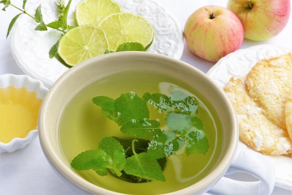 Tee, Taza De Té, Hierbas, Menta, Bálsamo, Apfelminze