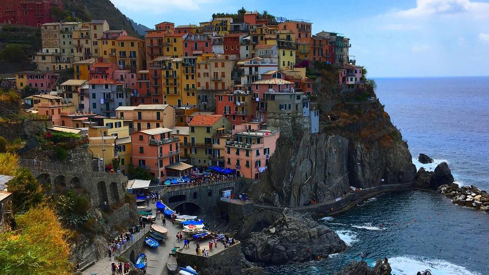 Manarola, Cinque Terre, Liguria, Italy, Sea, Cottages