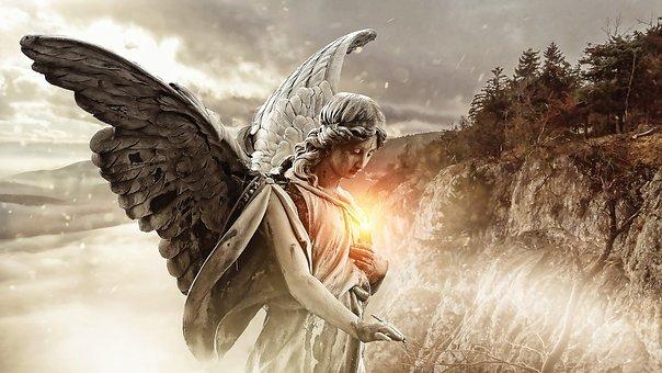 Niked angel drawn
