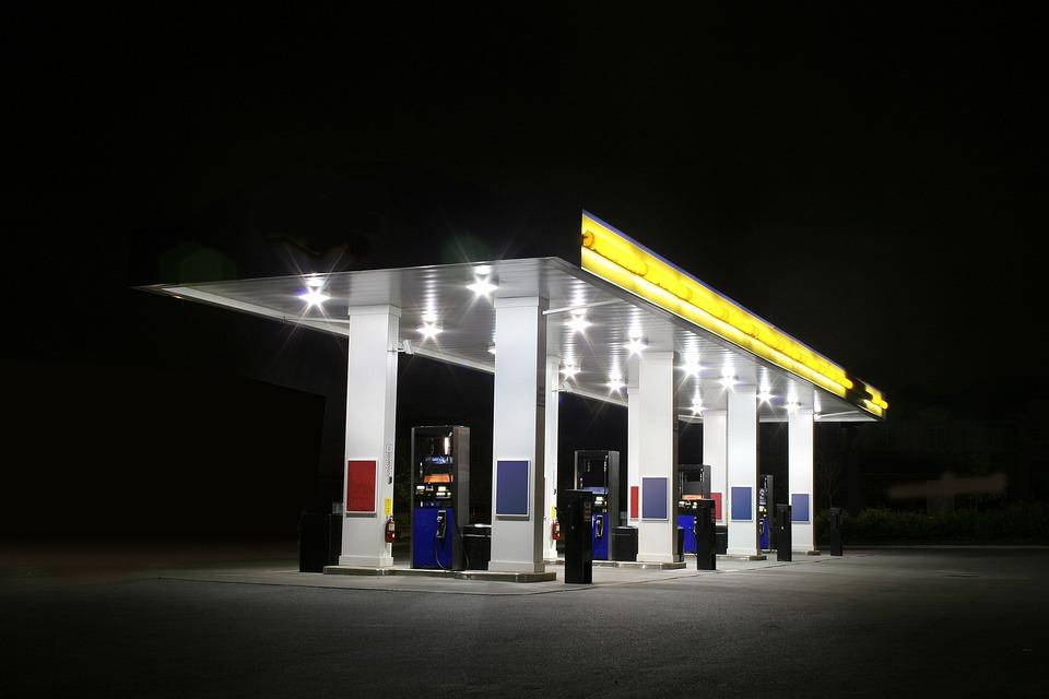 Image result for dark gas station