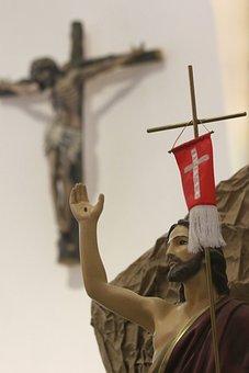 Jezus, Zmartwychwstanie, Krzyż