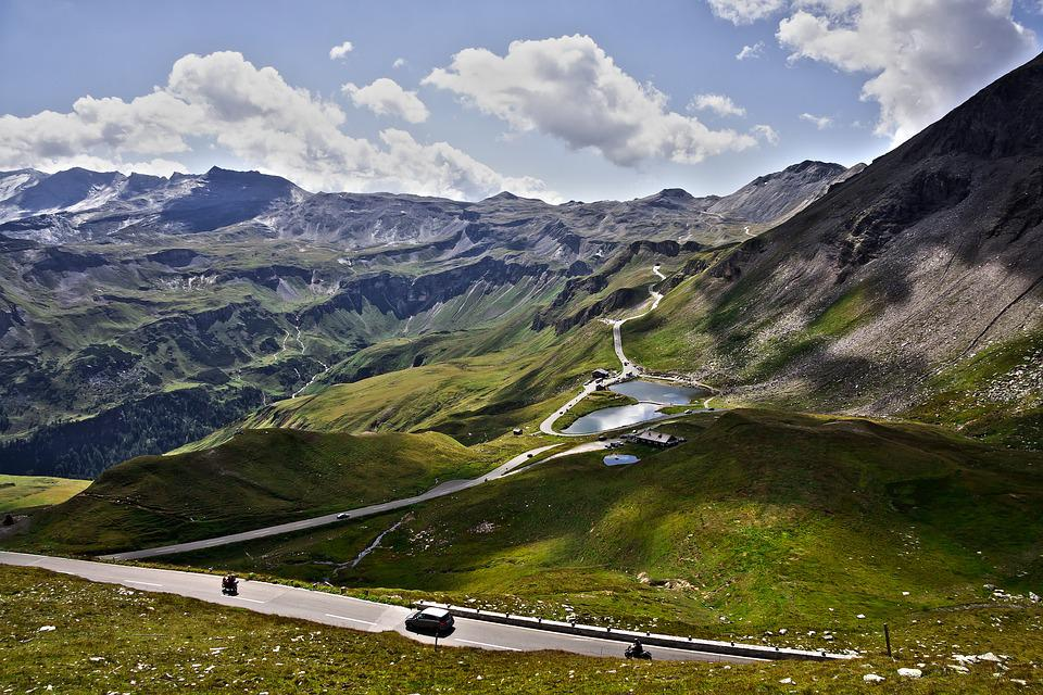 Vhodné, High Alpine Road, Grossglockner, Hory, Alpy