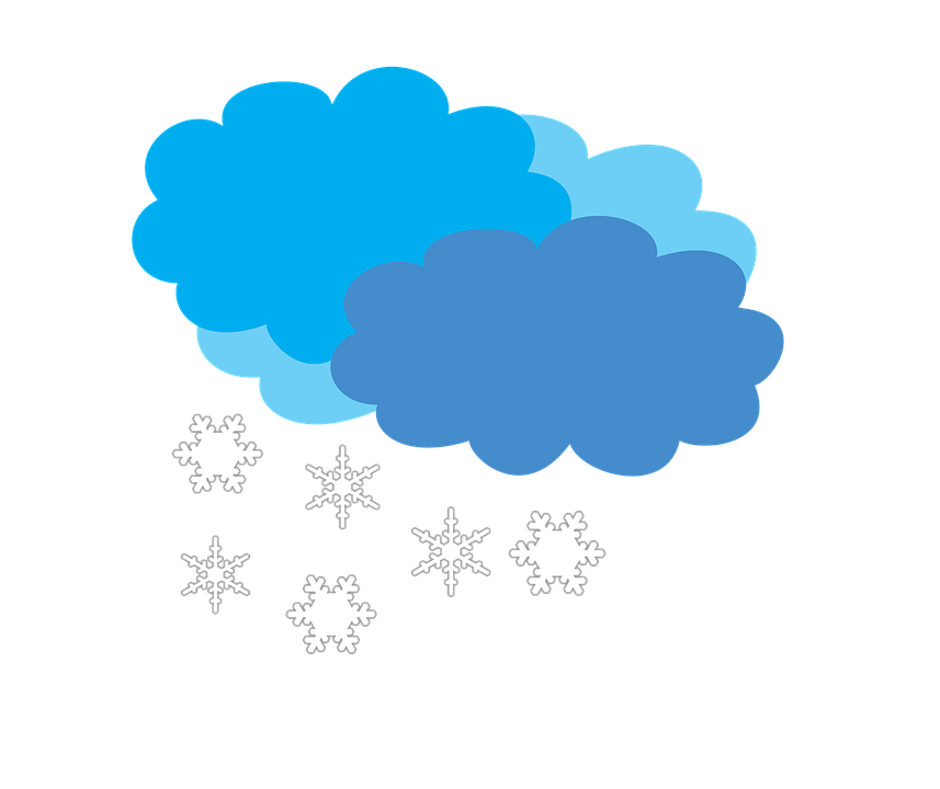 Cloudy Weather Forecast Snow · Free image on Pixabay Thunderbolt Clipart