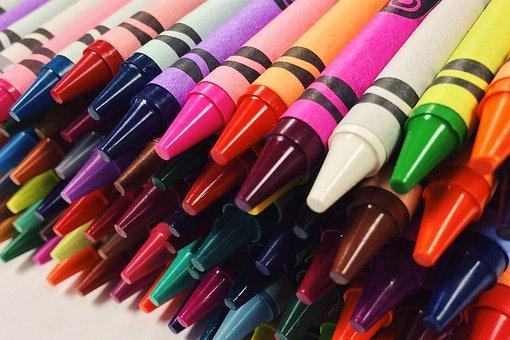 Crayons, Drawing, School, Art, Child