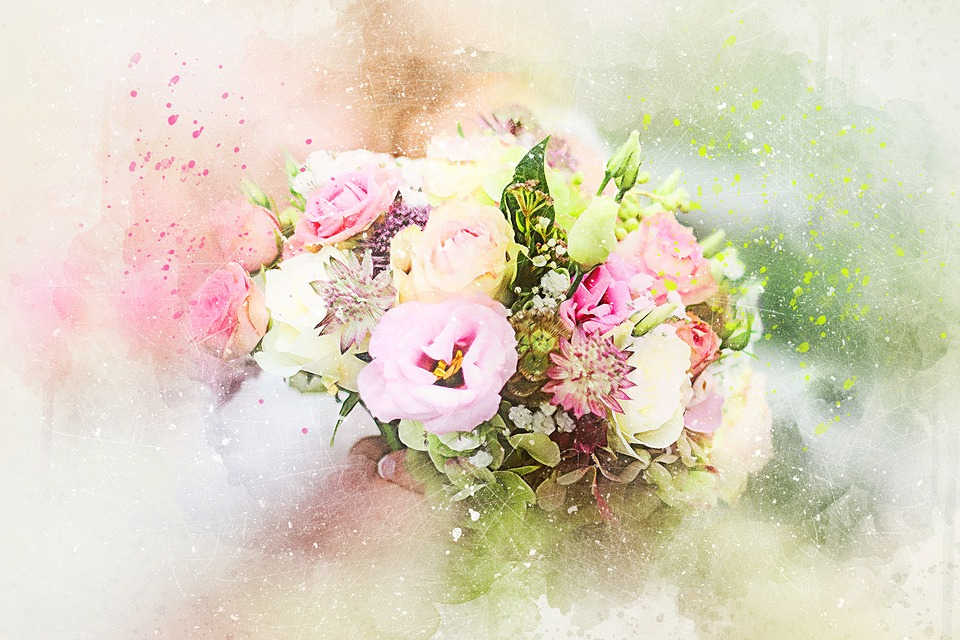 Free illustration flowers bouquet art abstract free for Bouquet de fleurs nature