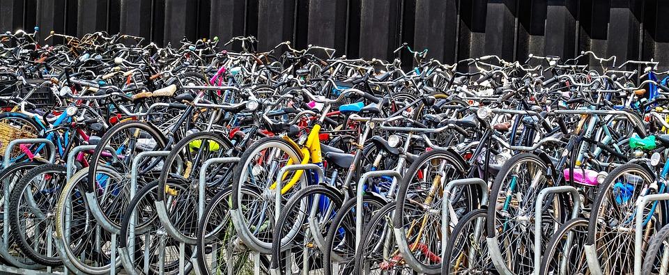 Kolo, Jízdní Kolo, Cyklus, Parkování, Mnoho, Doprava