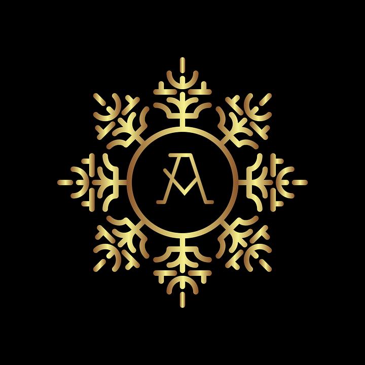 Monogramm Schreiben Gold · Kostenlose Vektorgrafik auf Pixabay