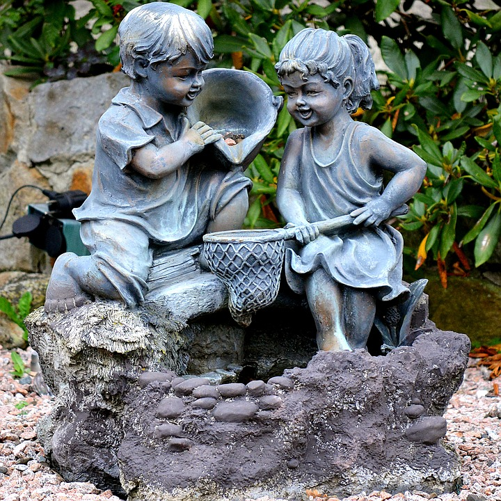 Etonnant Garden Figures Stone Decoration Garden Figurines