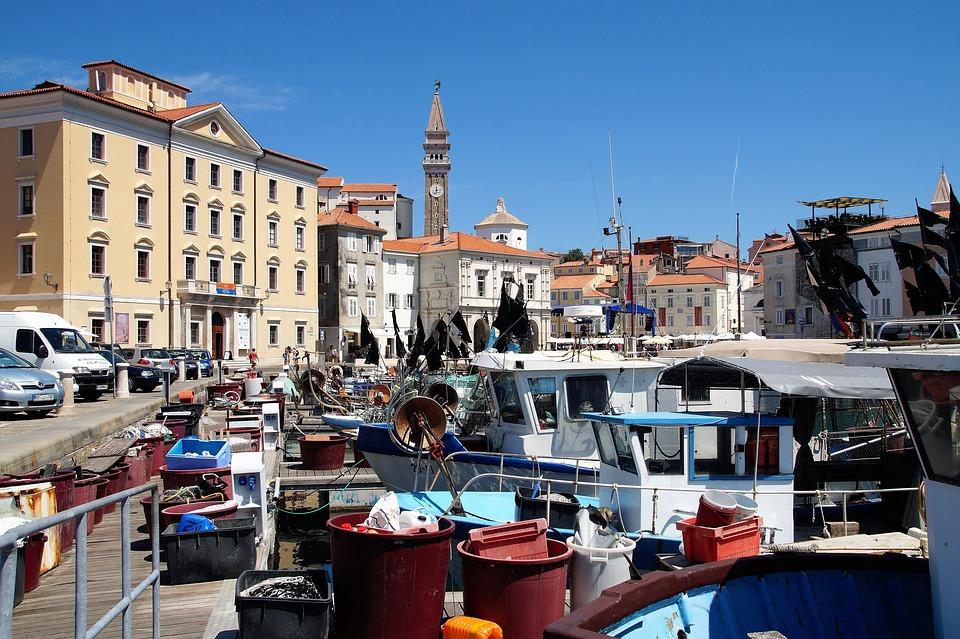 The City Of Piran, Fishing Port, Fishermen, Slovenia