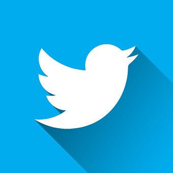 Twitter, Logo, Blue