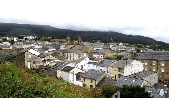 Vista panorámica de Mondoñedo Lugo Galicia